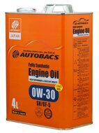 AUTOBACS ENGINE OIL FS 0W-30 SN/GF-5 + PAO 4л