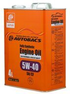 AUTOBACS ENGINE OIL FS 5W-40 SN/CF 4л